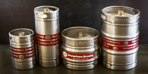 4 sizes of kegs represented