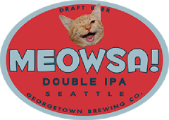 Meowsa Double IPA tap label