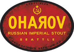 Oharov Russian Imperial Stout tap label