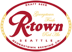 R Town Red Ale tap label