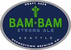 bam bam strong ale tap label