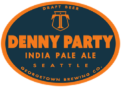 Denny party ipa tap label