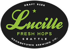 Fresh Hop Lucille IPA tap label