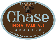 Chase IPA tap label