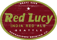 Red Lucy India Red Ale tap label