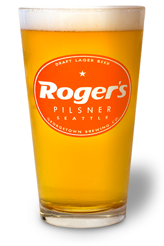Roger's in a glass.
