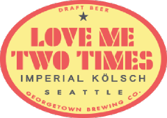 Love Me Two Times Imperial Kolsch tap label
