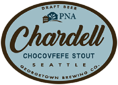 Chardell chocolate coffee stout tap label