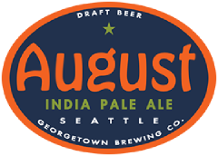 august IPA tap label