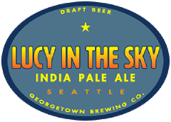 Lucy in the Sky IPA tap label