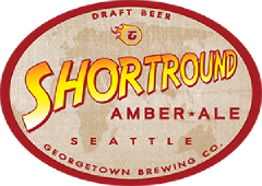Shortround Amber Ale tap label
