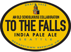 To The Falls IPA tap label