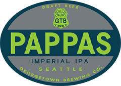 Pappas Imperial IPA tap label