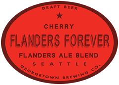flanders forever cherry tap label