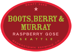 Boots Berry and Murray Raspberry gose tap label