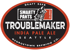 Troublemaker IPA tap label