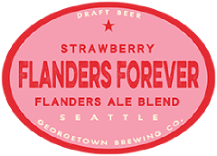 flanders forever strawberry tap label