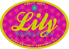 Lily Doulbe IPA tap label