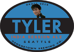 Tyler Session IPA tap label