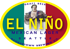 el nino mexican style lager tap label