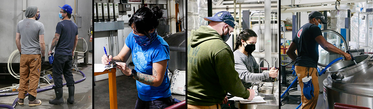 photos of brewers working