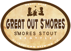 great out smores stout tap label