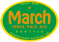 March IPA tap label