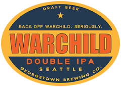 Warchild Double IPA tap label